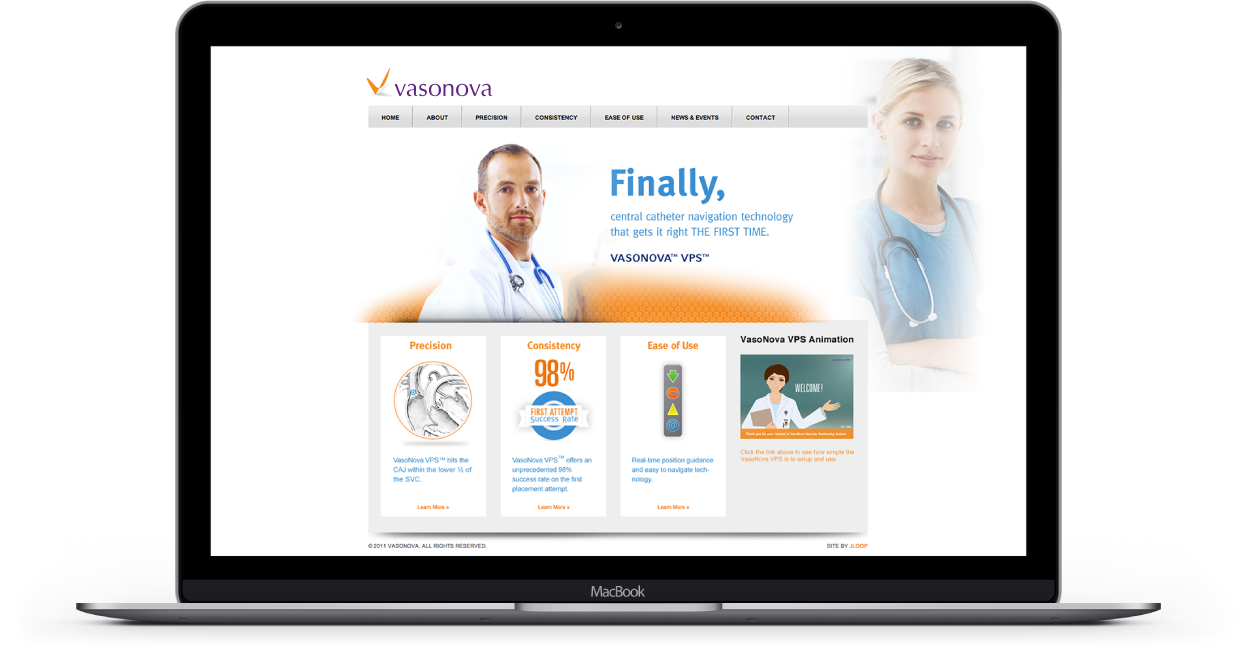 Vasonova Healthcare Startup Launch Case Study - Product Website