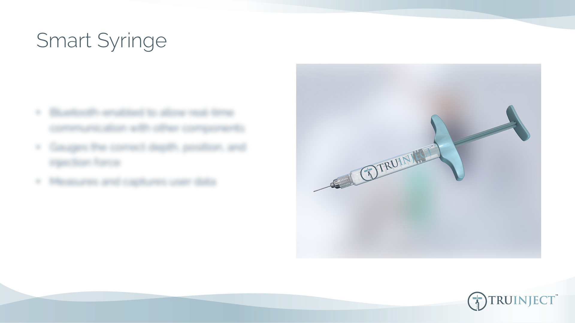 Truinject Corporate Deck - Smart Syringe